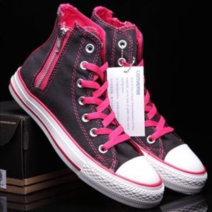 New women s converse sneakers shoes pink black 8 973706bca